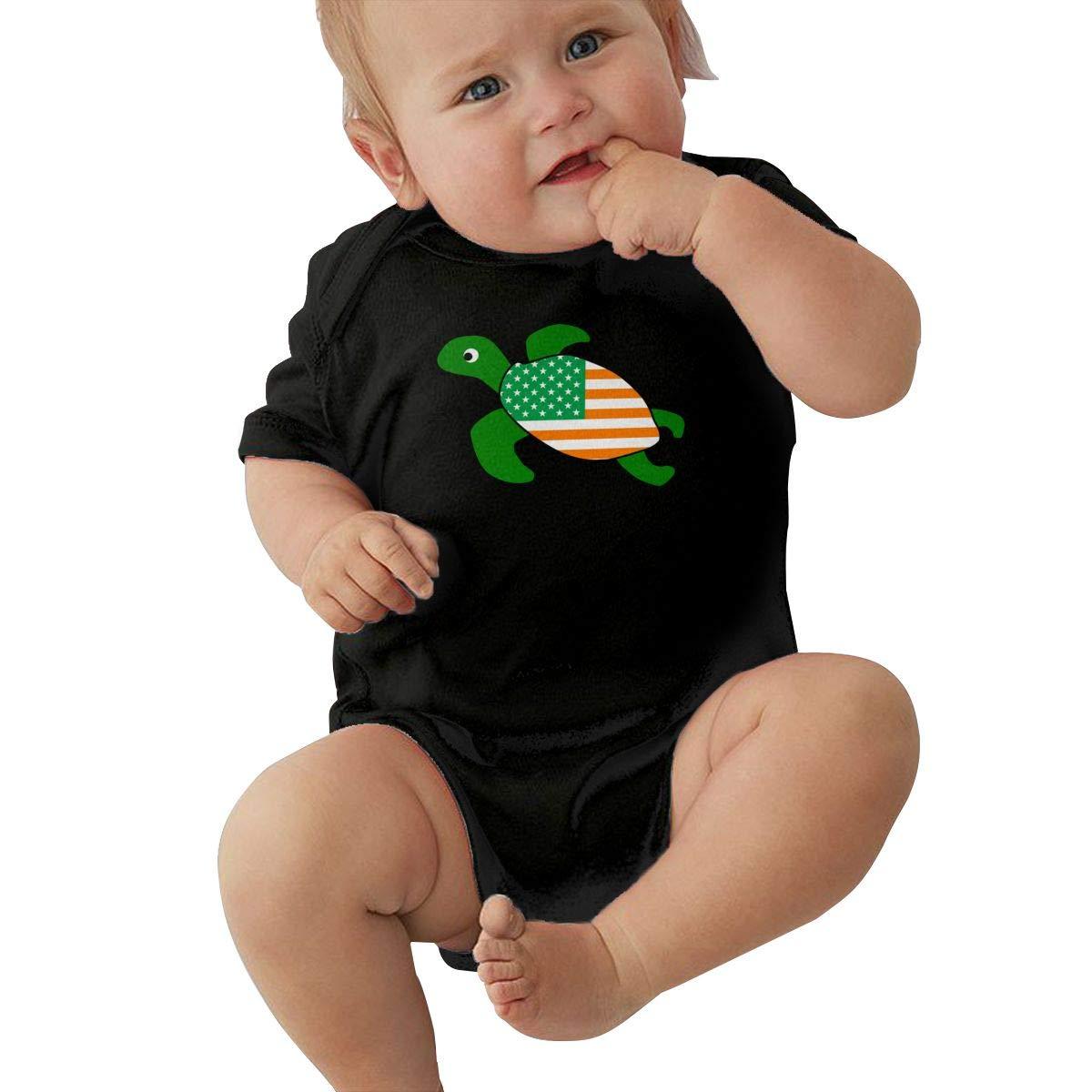 Suit 6-24 Months Newborn Sea Turtle Irish United Short Sleeve Climbing Clothes Romper Jumpsuit