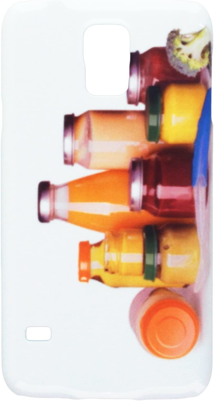Baby food jars and juice bottles isolated on white cell phone cover case Samsung S5