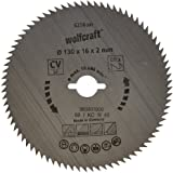 Wolfcraft 6256000 Kreissäge-Blatt 130 x 16 x 2 mm , 80 Zähne