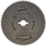 Wolfcraft 6256000 - Lama per sega circolare in CV, grana 80, diametro 130 x 16 mm