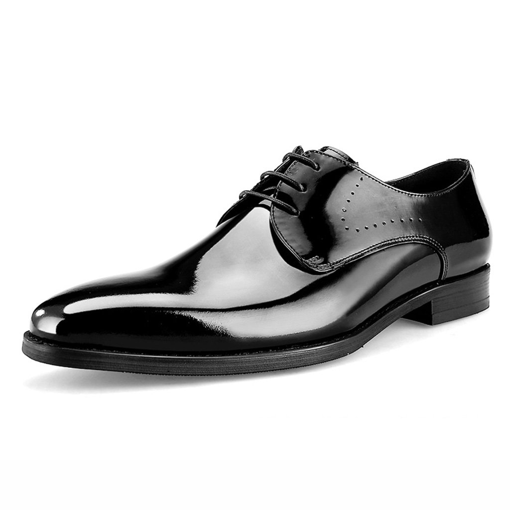 Zapatos Clásicos de Piel para Hombre Zapatos de cuero para hombres Negocios Ropa formal Zapatos de boda Zapatos de cuero brillante Primavera Zapatos de estilo británico masculino ( Color : Negro , Tamaño : EU39/UK6 ) EU39/UK6|Negro