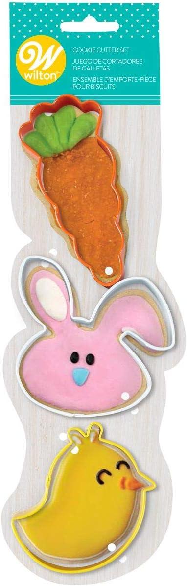 Wilton, Set of 3, Carrot, Bunny & Bird Cookie Cutters, 2308-7556