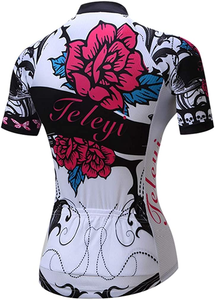 Womens Cycling Jersey Riding Bicycle Clothing Bike Wear Clothes Short Sleeve Shirts