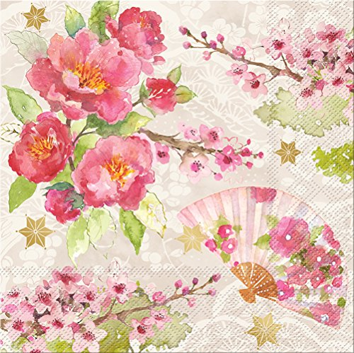 Punch Studio 45960, Chinoiserie Garden, Luncheon Napkin, One Size, 20 Count, Multicolor