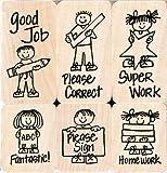 Hero Arts Woodblock Stamp Set, Hero Kids for Teachers