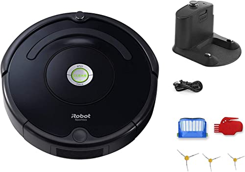 iRobot Roomba 614 Robot Vacuum Bundle – Wi-Fi Connected, Ideal for Pet Hair 3 Extra Edge-Sweeping Brushes 8 Items