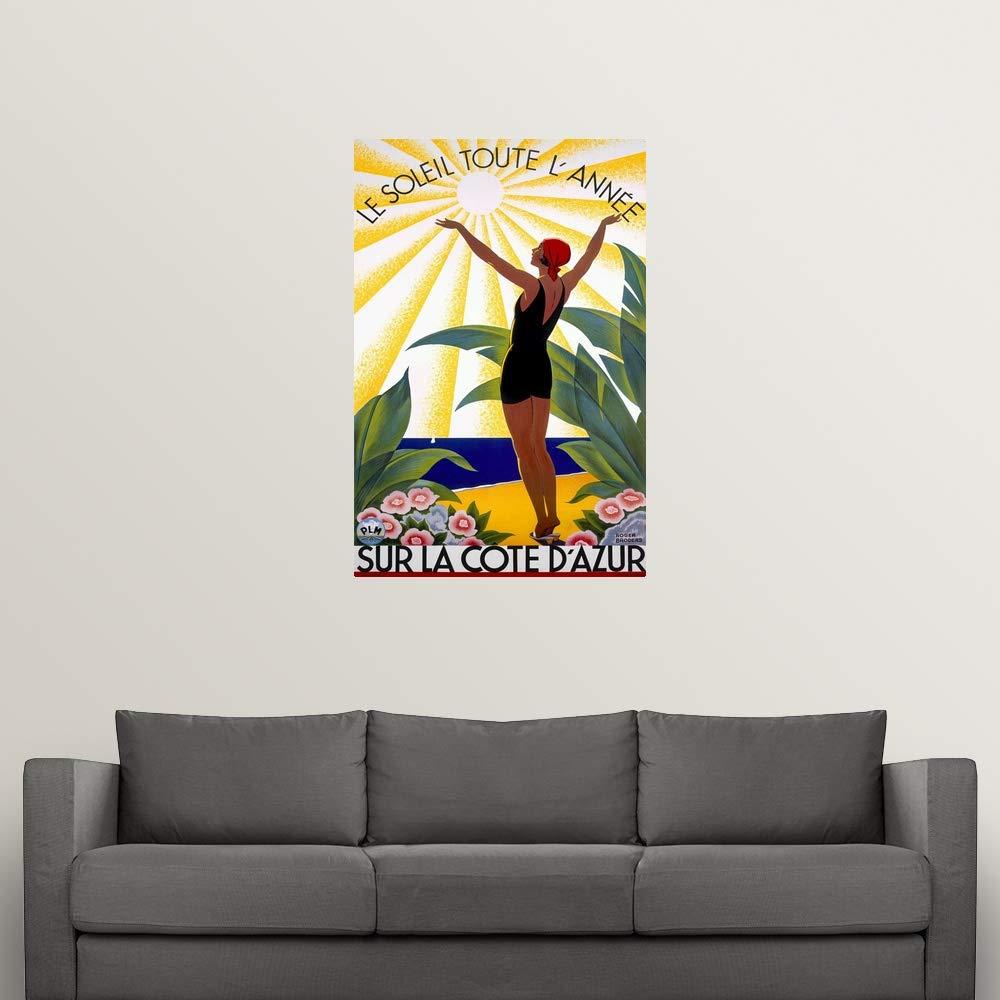 Amazon.com: CANVAS ON DEMAND Cote dAzur, Le Soleil Toute ...
