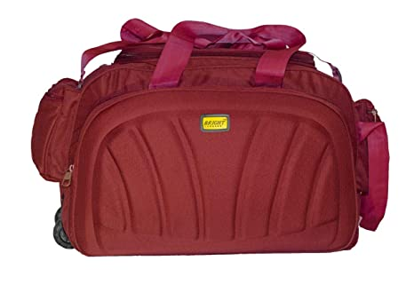 Image Unavailable. Image not available for. Colour  Bright Luggage Unisex  Synthetic Lightweight Waterproof Extra Compartment Red Travel Duffel Bag ... c6a8bb1b68