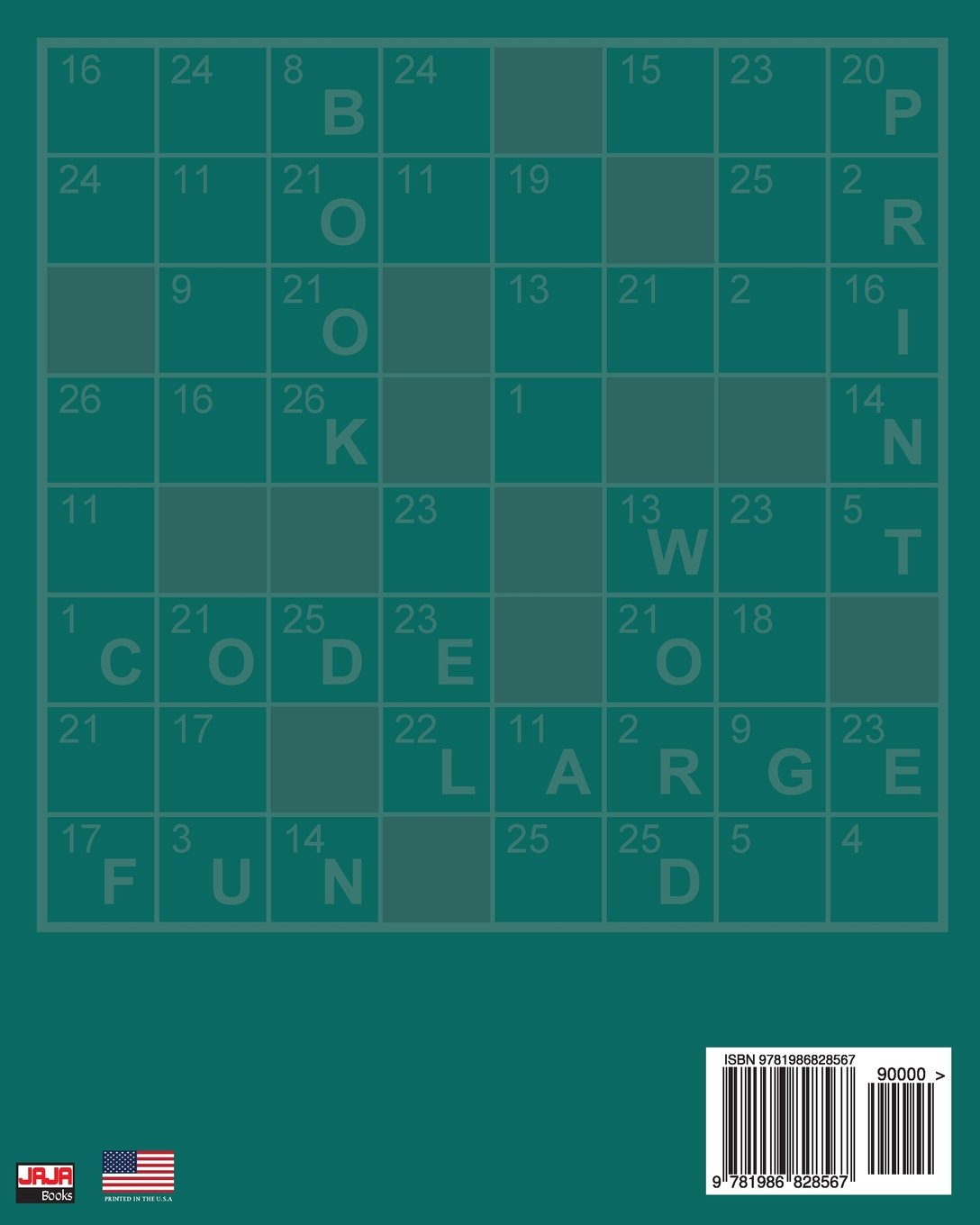 Large Print CODE WORD Book 1: Volume 1 (Large Print CODE WORD Book: 100  plus puzzles for hours of entertaining fun.): Amazon.co.uk: Jaja Books: ...