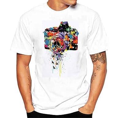 929a63b94da4d Vetement Homme Pas Cher a la Mode Vtops T-Shirt été à Manches Courtes pour Homme  Tee Shirt Homme (L,Blanc): Amazon.fr: Vêtements et accessoires