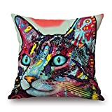 MaSoyy Cat Throw Cushion Covers 20 X 20 Inches /...