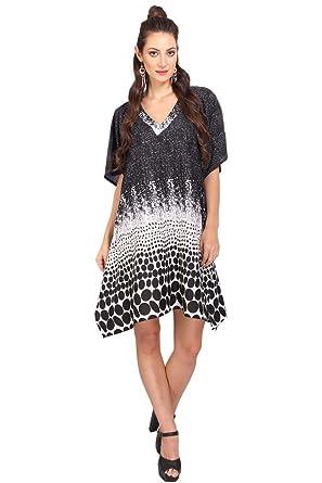 4b44e6006b39 Image Unavailable. Image not available for. Colour  Miss Lavish Women s  Kaftan Tunic Kimono Dress Summer Evening Plus Size Beach Cover up 10-