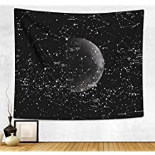 HAOCOO Hippie Wall Hanging Tapestry,Boho Indian Home Decor Starry Sky Wall Art for Bedroom Living Room Dorm Apartment (60 x 80 Inch, Moon Constellations)