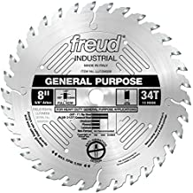 Freud LU72M008 8-Inch 34 Tooth ATB General Purpose Saw Blade with 5/8-Inch Arbor