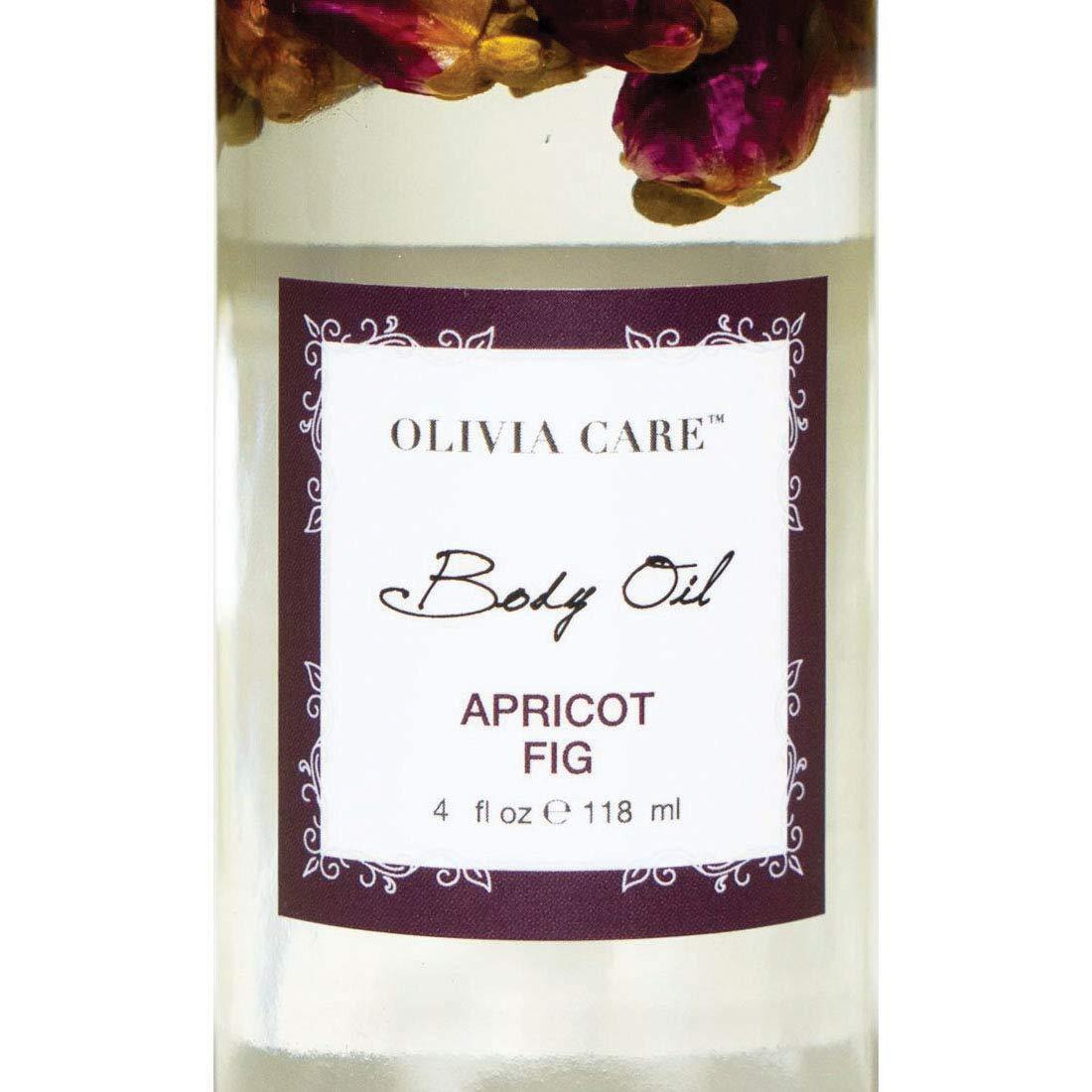 OLIVIA CARE Body Oils, Flavors: Apricot Fig, French Rose, Jasmine Gardenia -All Natural Perfume Fragrance & Body Oil Moisturizer, Rich in Vitamin E, K, Omega fatty Acids (Apricot Fig)