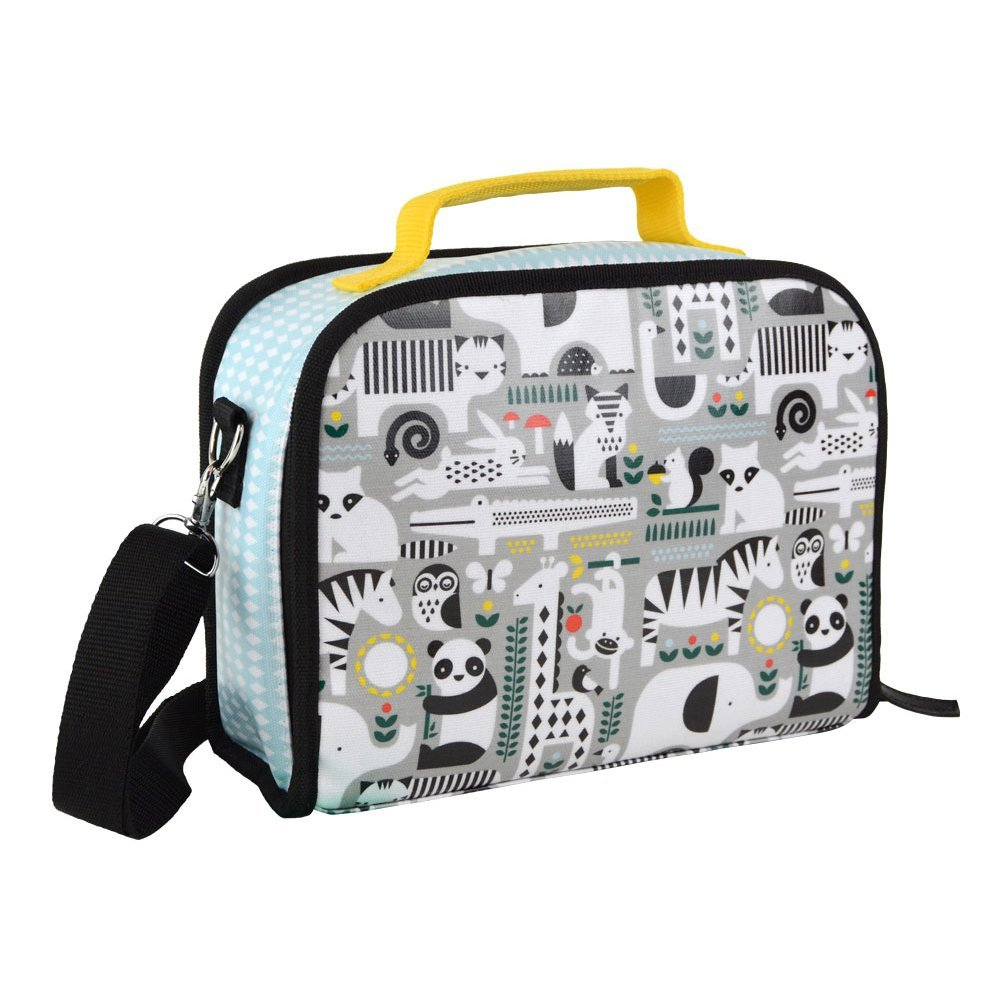 Petit Collage Insulated Lunch Box, Animals