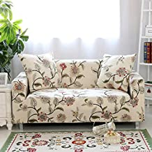"""Hotniu Printed Sofa Slipcovers for 3 Cushion Couch Elastic Sectional 2 Seat Covers for Armchair and Loveseat (Loveseat for 57""""-74"""", Pattern #10)"""