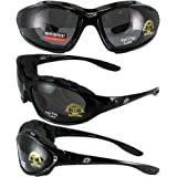 """Birdz Thrasher Smoked Motorcycle Glasses Goggles Gogles New Uni-head"""" Padded Fits Small, Medium and Large Heads!! Comes With a Strap"""