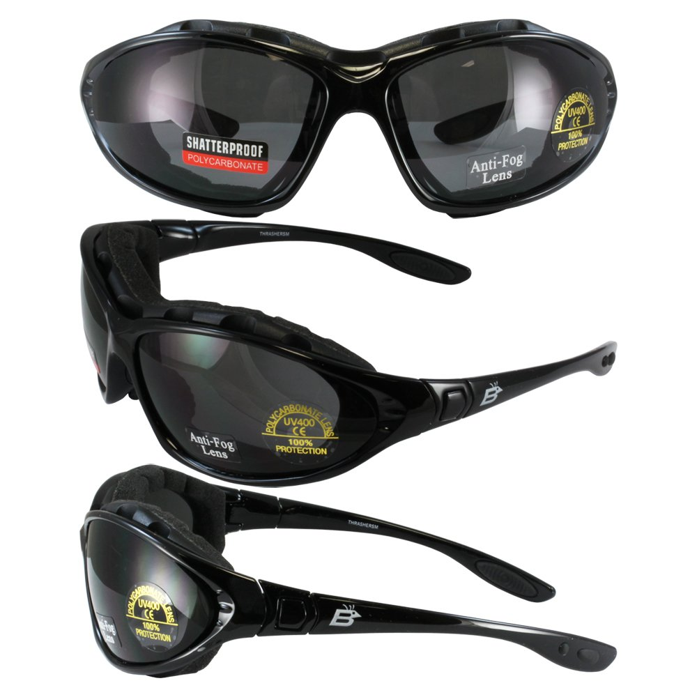Extreme Sports Motorcycle Glasses Goggles New ''Uni-head'' Padded Fits Small, Medium and Large Heads!!