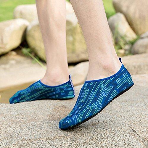 Aqua Shoes Chaussettes Surf Moresave Swim Running Chaussettes Skin Bleu pour Fitness Beach Yoga Exercice x4UttwHq5
