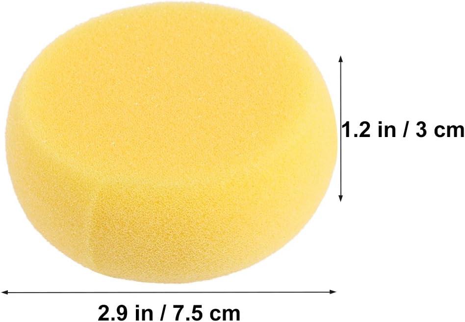 Healifty 12 St/ück synthetische Schw/ämme rund zum Bemalen von Gesichtsmalerei Basteln Keramik Ton Wasserfarben Hausgebrauch gelb