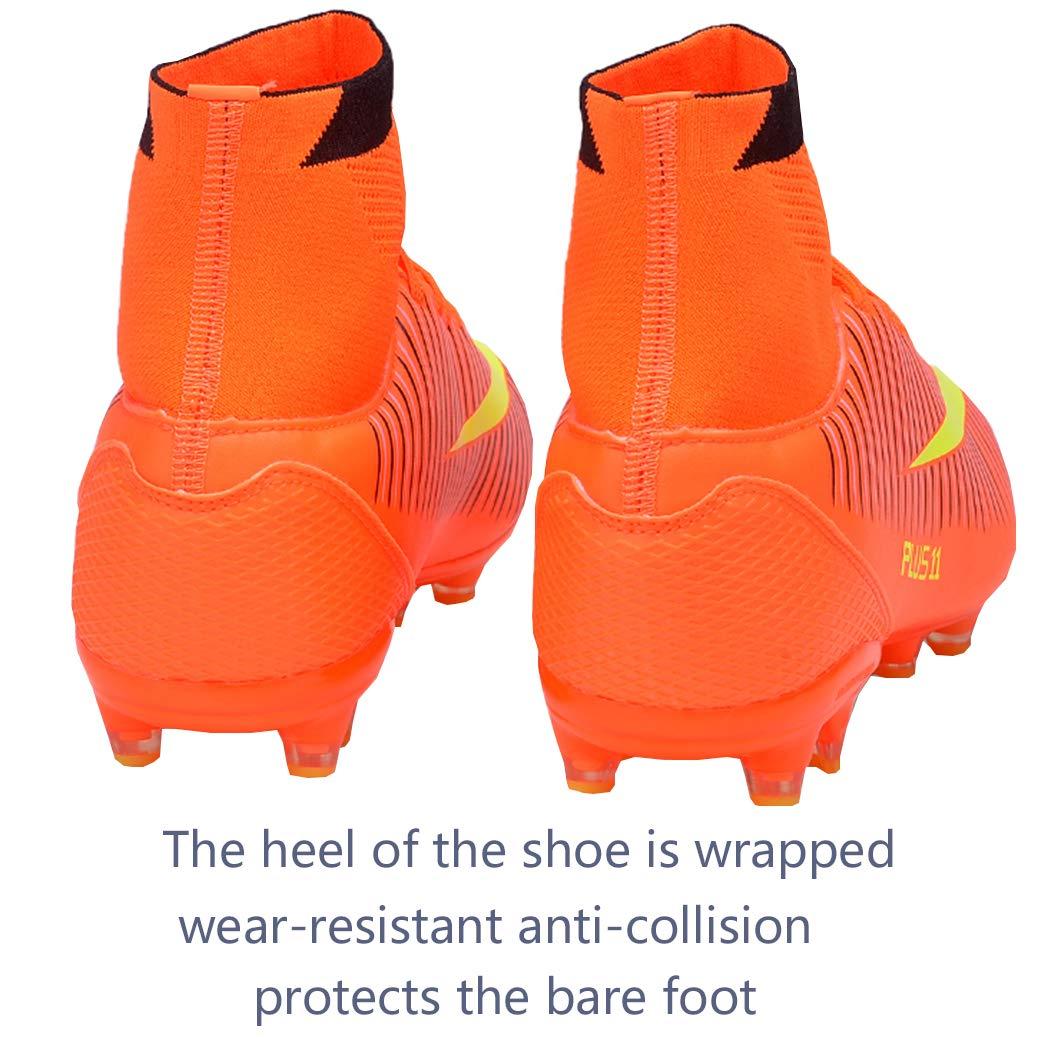 Brfash Chaussures de Football Homme Crampon Foot Profession Athl/étisme Entrainement High Top Chaussures de Foot