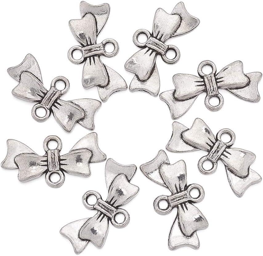 50pcs Christmas ornament jewelry metal charms gift box ribbon findings