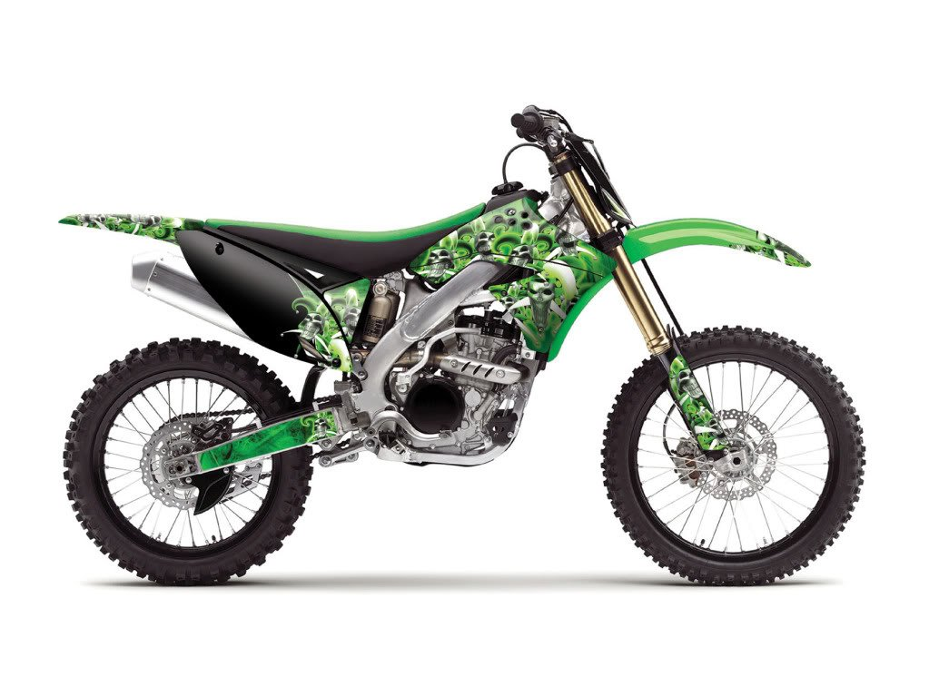 Senge Graphics kit compatible with Kawasaki 1985-2004 KX 60 Jester Green Graphics Kit