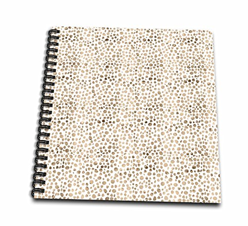 3dRose Anne Marie Baugh - Patterns - Modern Faux Gold Pebble Dots Pattern - Drawing Book 8 x 8 inch (db_283462_1)