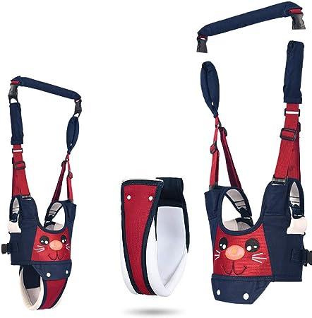 Arnés para caminar para bebé, ayudante para caminar y aprender a caminar, 4 en 1, arnés de seguridad funcional para bebé de 7 a 24 meses (rojo y azul)
