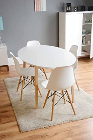 MY Furniture   Dining Table Lacquered White Retro Round  Tretton (Round  White Lacquered