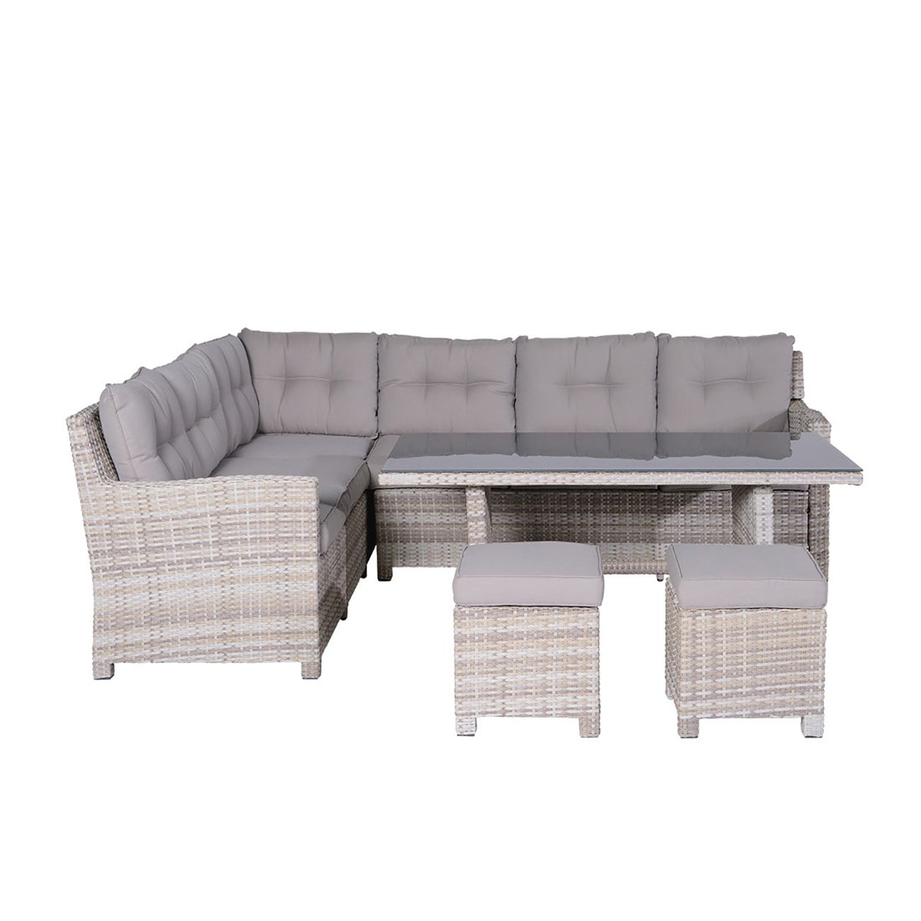 OUTLIV. Blue Bird Loungeset 5tlg Geflecht Passion Willow / Kissen Sand Lounge Set