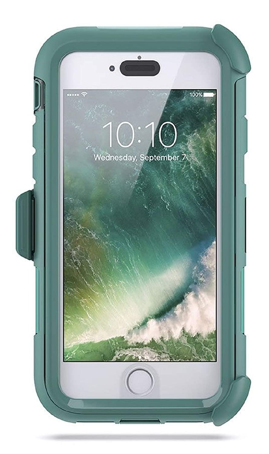 buy online a3d64 01b9a Griffin Survivor Extreme Rugged Drop Protection Case for IPhone 8 & iPhone  7 (ONLY) (Teal/Clear)