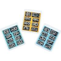 MINGZE 24 Piezas Juguetes Mágicos de Alambre de Metal Set, 3D Rompecabezas Brain Teaser Puzzle, IQ Inteligencia Juguete…