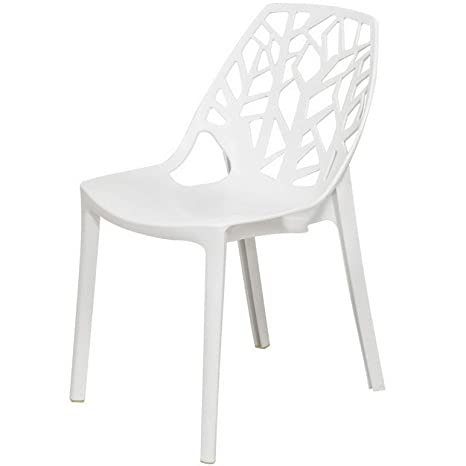 Enjoyable Amazon Com Monowi Flora White Cut Out Plastic Dining Chair Andrewgaddart Wooden Chair Designs For Living Room Andrewgaddartcom