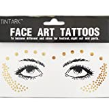 Hatcher lee 3Sheets Face Tattoo Sticker Metallic