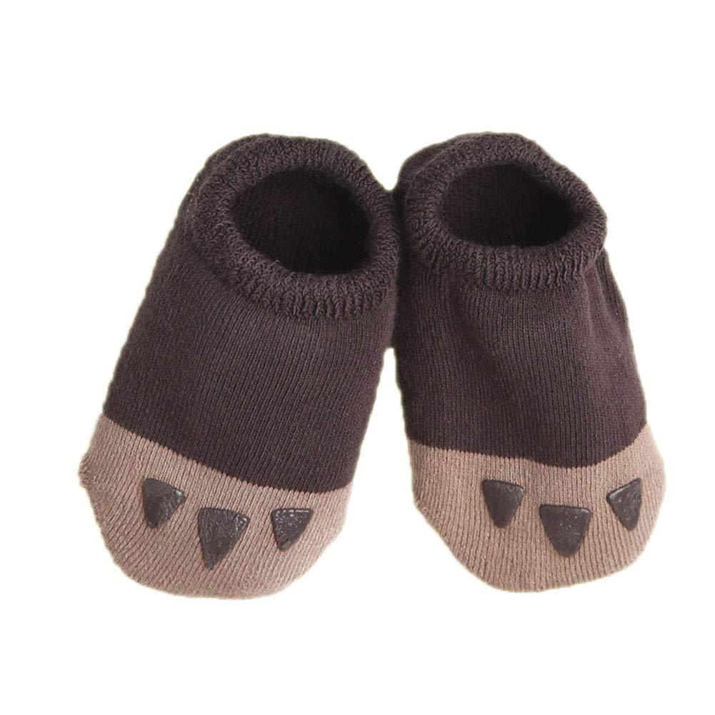 Hapkou Infant Socks Toddler Anti Slip Socks Cute Cotton Baby Boys Girls Socks with Grips 6 Pairs