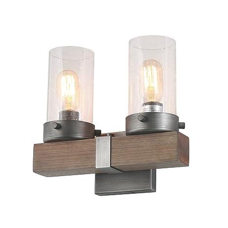 sconces for bathroom lighting modern log barn 2light bathroom vanity lights industrial wall sconces wood lighting