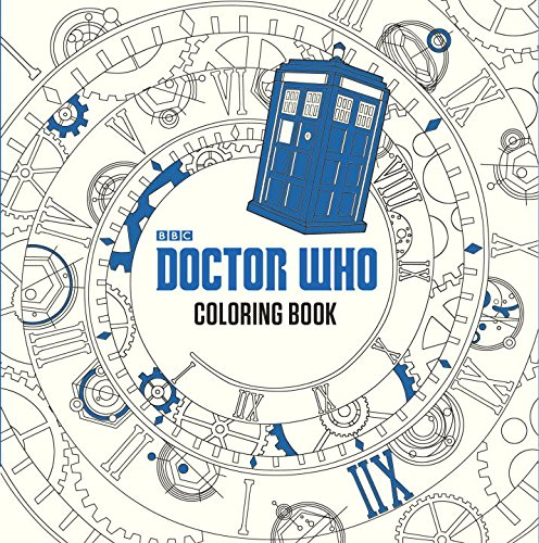 attention whovians it might be time to break out your wallets and purchase this 96 page long coloring book featuring planets galaxies doctors - Abbi Jacobson Coloring Book