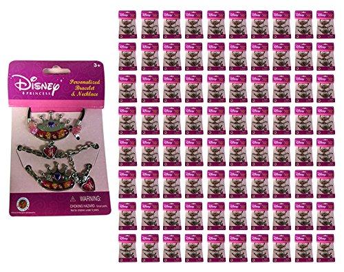 100x Disney Princess Bracelet & Necklace Charm Kids Toy New