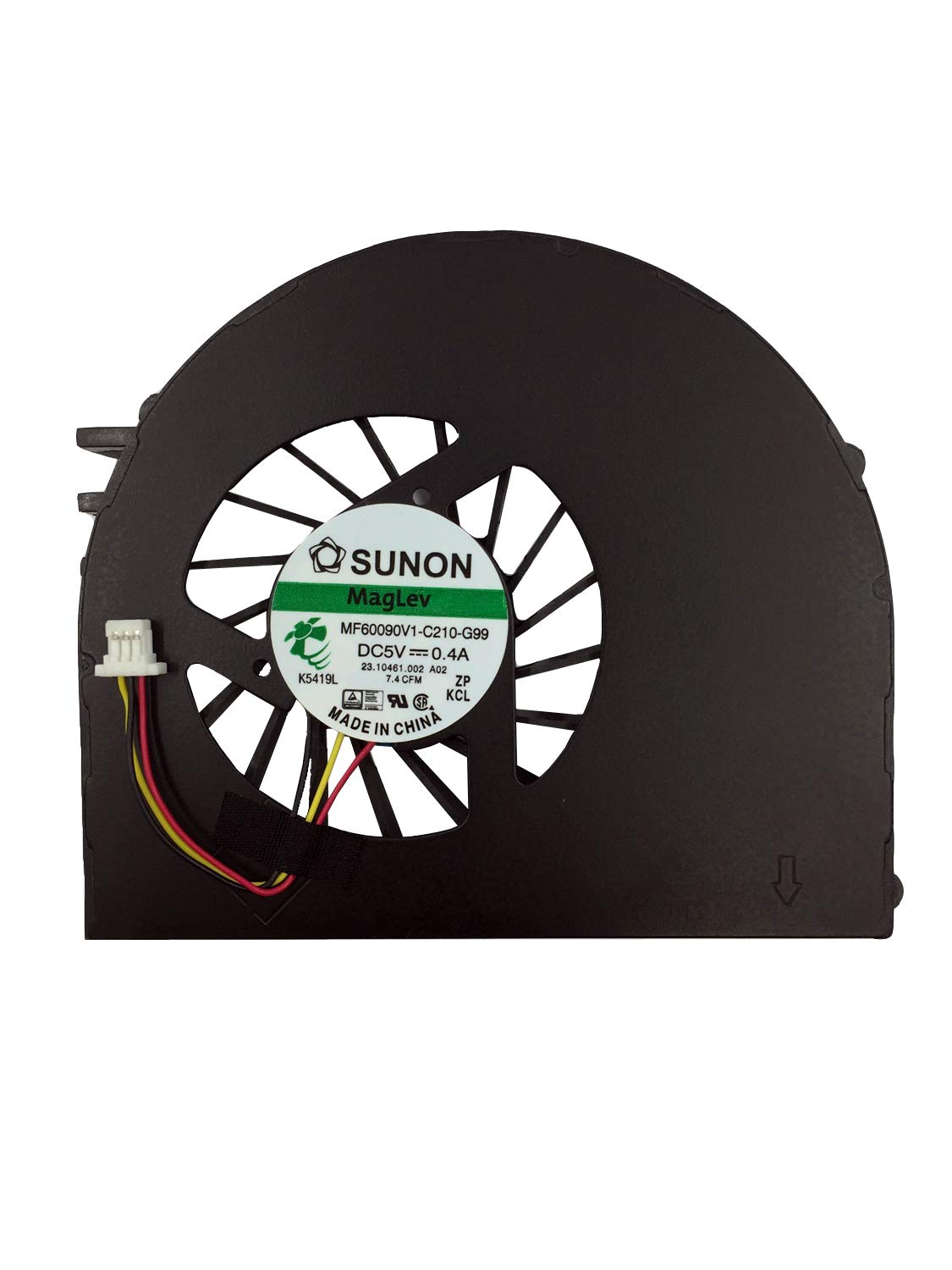 Asia New Power CPU Cooling Fan for DELL Inspiron 15R N5110 MF60090V1-C210-G99 23.10461.002 DFS501105FQ0T FA80 A02 K5419L