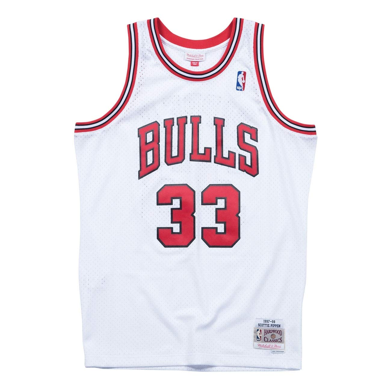 Mitchell /& Ness Chicago Bulls 33 Scottie Pippen Swingman Retro Trikot Jersey