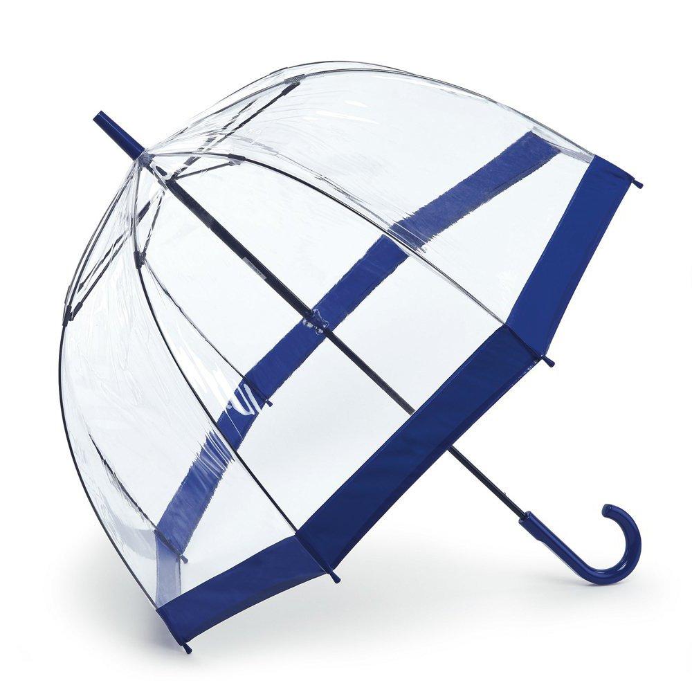 Paraguas transparente azul