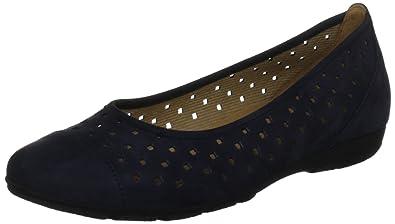 Shoes Damen Comfort Geschlossene Ballerinas, Blau (Nightblue 46), 38 EU Gabor