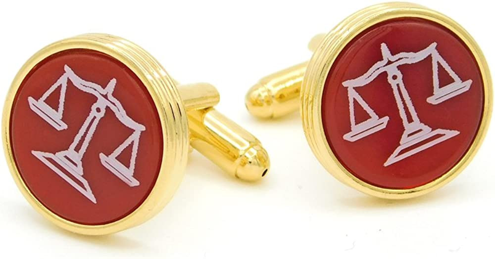 JJ Weston Cornelian Engraved Lawyer Cufflinks Made in The USA.
