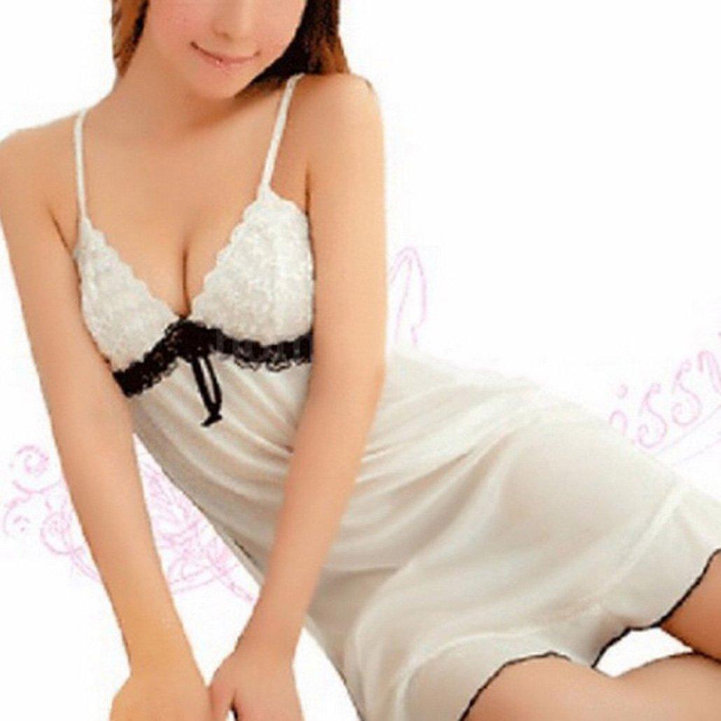 Amazon.com: Friedman Lingerie Lady Underwear Lace White Babydoll Sleepwear with G-String Sleeping Wear Lack Tight Bow: Clothing