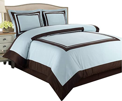 Amazon.com: Hotel Blue and Chocolate 3 Piece King/Cal King Duvet