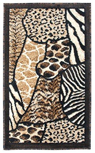 (Animal Skin Prints Patchwork Leopard zebra Rugs 4 Less Collection Door Mar Area Rug R4L 70 (2'X3'4