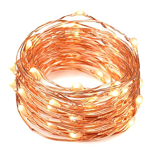 cjsolar Solar String Lights (75.4ft, Waterproof) Bendable Copper Wire High Efficiency 200 LED Durable Fairy Outdoor String Lights for Garden Patio Wedding (200 warmwhite)