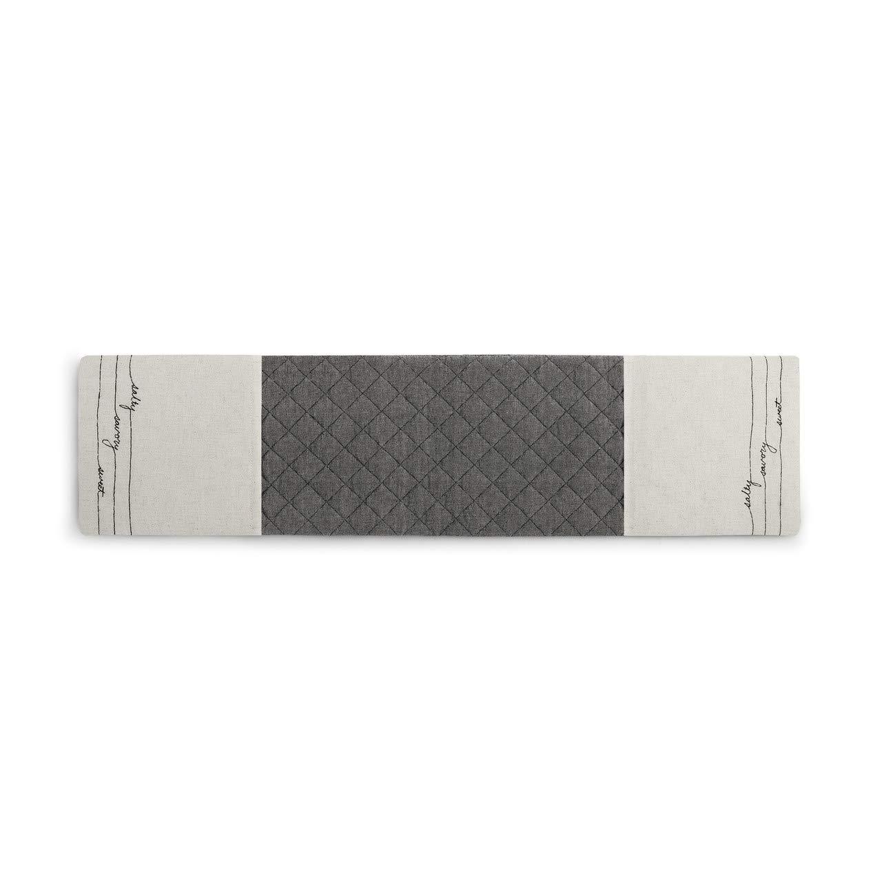 Salty Savory Sweet Slate Grey 30 x 8 Cotton Blend Fabric Double Oven Mitt